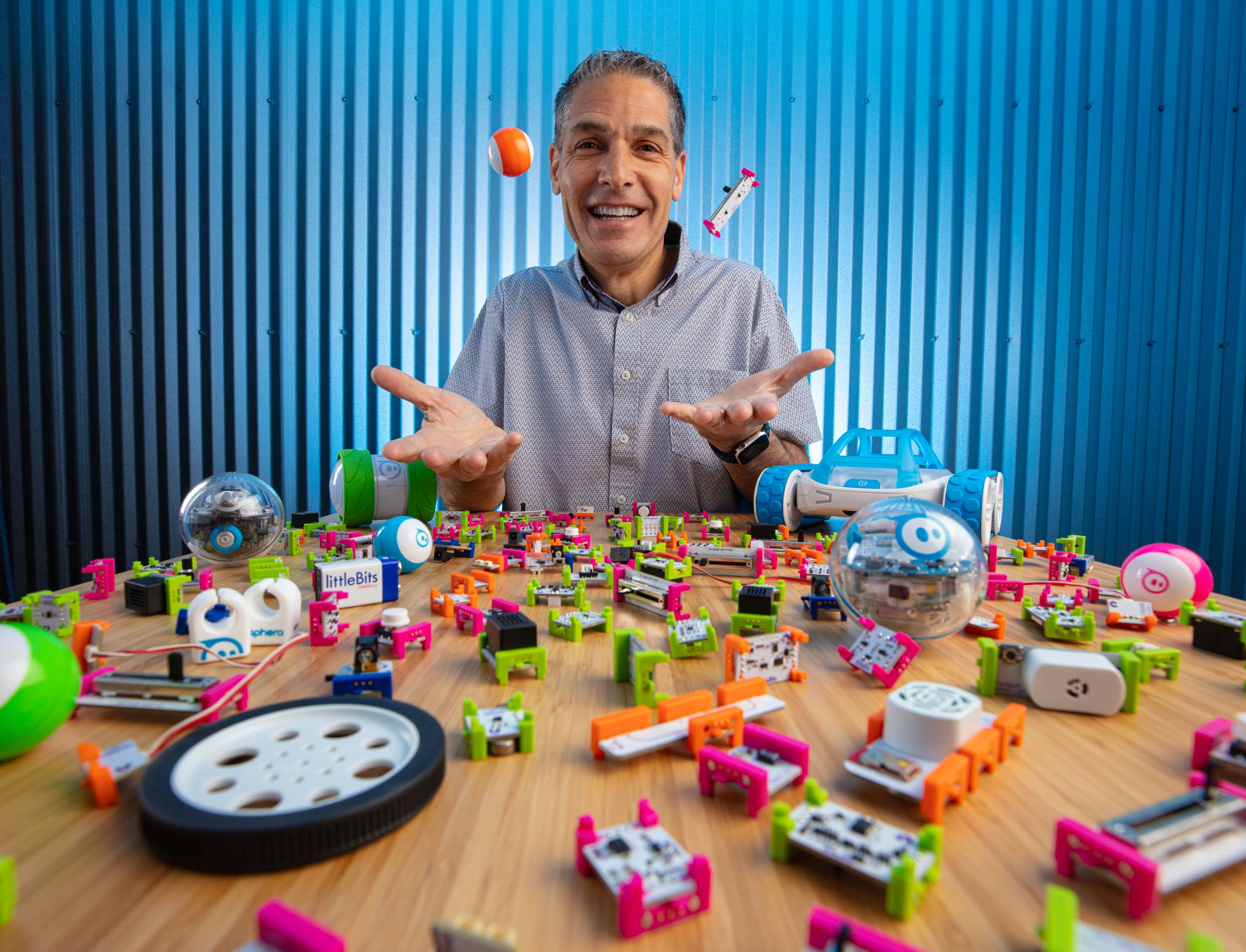Sphero and LittleBits CEO Paul Berberian editorial environmental portrait in Boulder, Colorado.