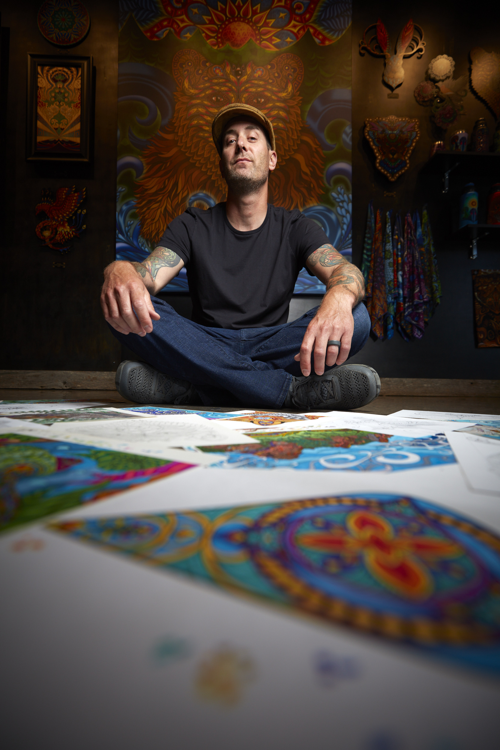 Phil Lewis Art environmental portrait in Boulder Colorado