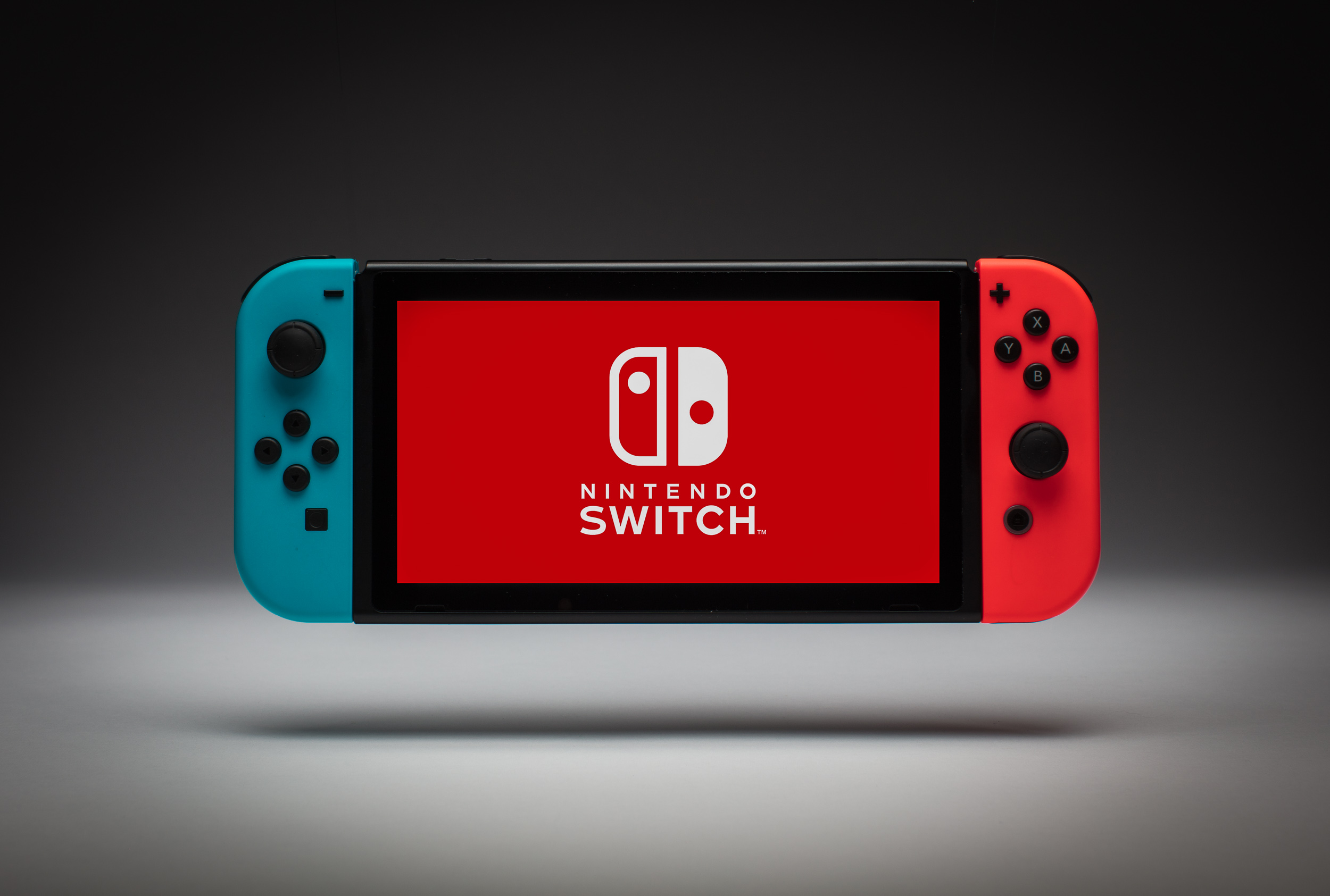 Floating Nintendo Switch Product Photo